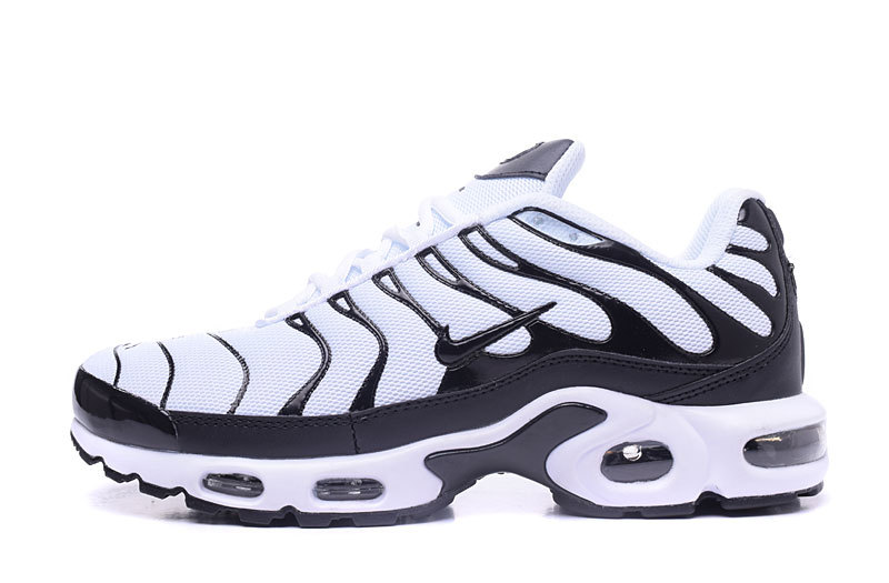 sports shoes 75a28 925b7 Nike Air Max Plus TXT White Black Men's Running Shoes NIKE-ST000942 ...