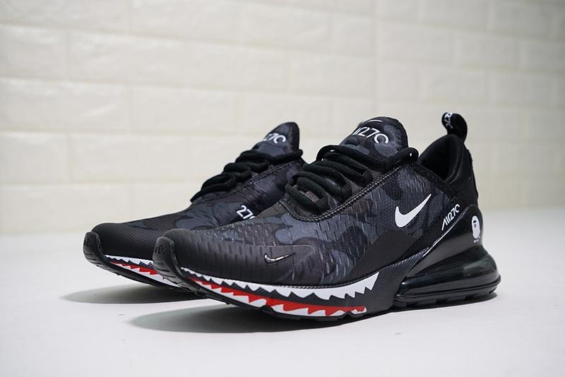 ec58ed0d20 Nike Air Max 270 Flyknit Black Gray AH6799-012 Men's Running Shoes ...