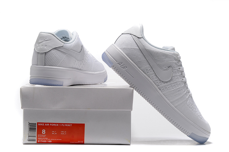 brand new 14844 78904 Nike Air Force 1 Ultra Flyknit Low White Women's Men's Casual Shoes  Sneakers 817420-100