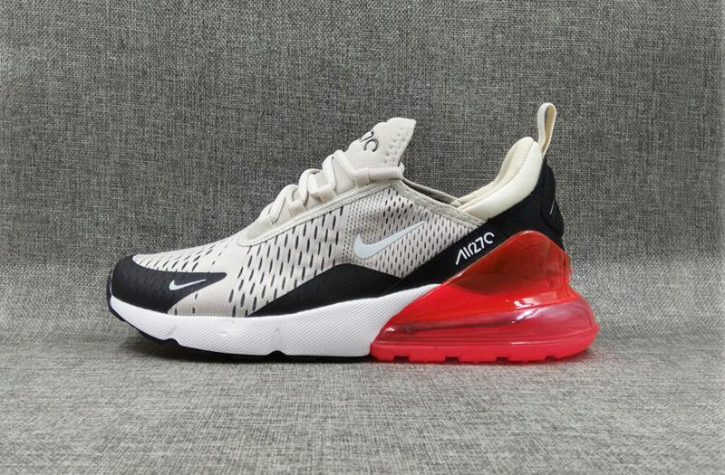 wholesale dealer 46241 dae9c Nike Air Max 270 Grey Black Red Men's Running Shoes NIKE-ST001029