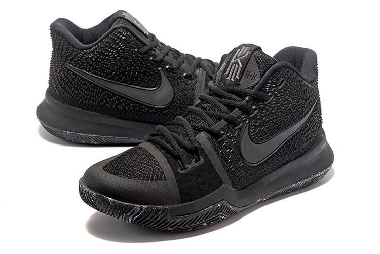 sale retailer b7b8a ca7a6 Nike Kyrie 3 III EP Irving Marble Triple Black 3M Men's Basketball Shoes  852396-005