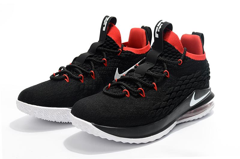 37ed86338b8b2 Nike LeBron 15 Low Black White Red Men s Basketball Shoes NIKE ...