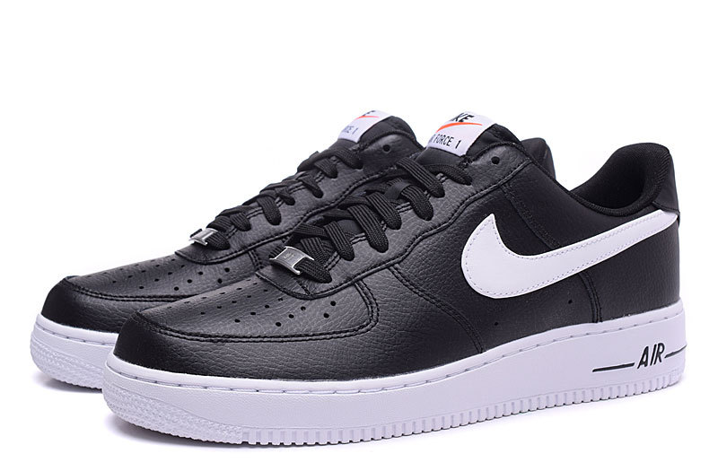 8453abe5f45fa3 Nike Air Force 1 Low Black White Men s Casual Shoes Sneakers 488298 ...