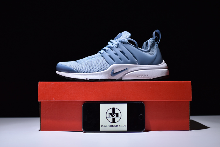 online store 339a8 0675f Nike Air Presto Blue Grey Black White Ocean Fog Women's Running Shoes  878068-400