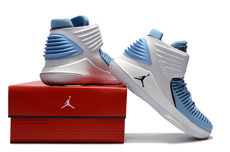 buy popular b05f7 69e38 Nike Air Jordan XXXII AJ32 North Carolina Blue White Men s Basketball Shoes