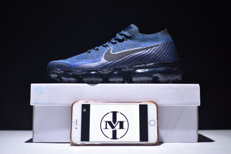 e4311bfc26920 Nike Air VaporMax Flyknit Navy Black Game Royal Men s Running Shoes ...