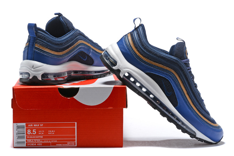 67007f42b8d9 Nike Air Max 97 Premium Thunder Blue Dark Obsidian Men s Running ...