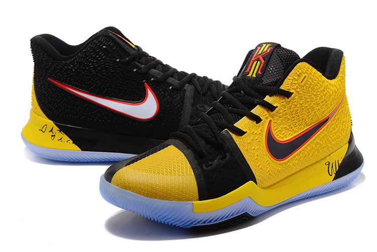 huge selection of 79d8a 8b5f6 Nike Kyrie 3 III EP Irving Black Yellow Men s Basketball Shoes