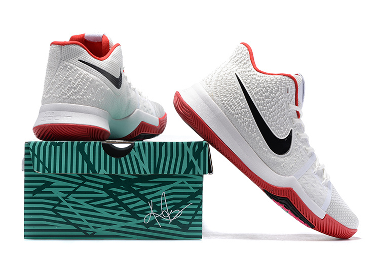 best loved 0a56a 703b2 Nike Kyrie 3 III EP Irving Whtie Red Black Men's Basketball Shoes  NIKE-ST001535