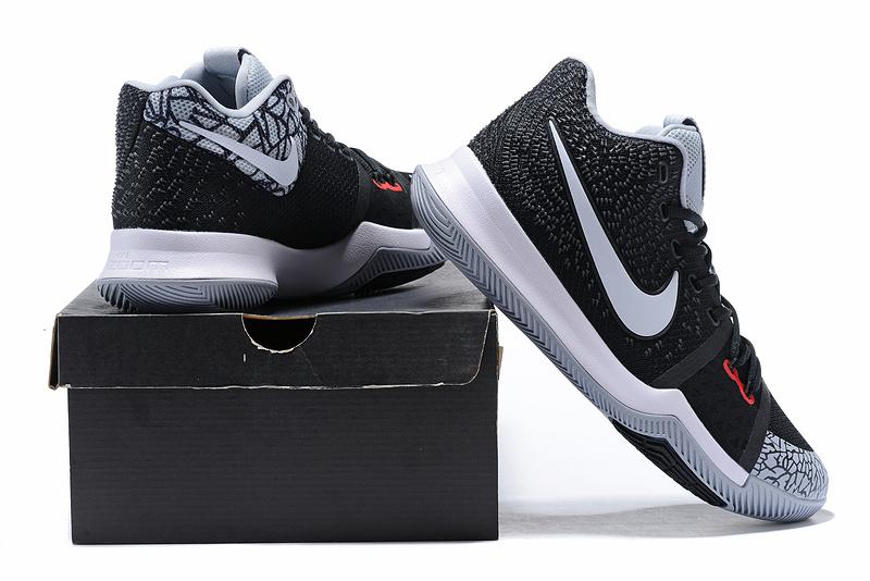 f143e4f8d62 Nike Kyrie Irving 3 Black White Crack Men s Basketball Shoes NIKE ...