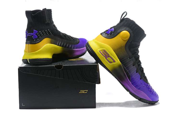 064a6e71f08 ... where to buy under armour curry 4 black purple yellow mens basketball  shoes fdd07 689d3