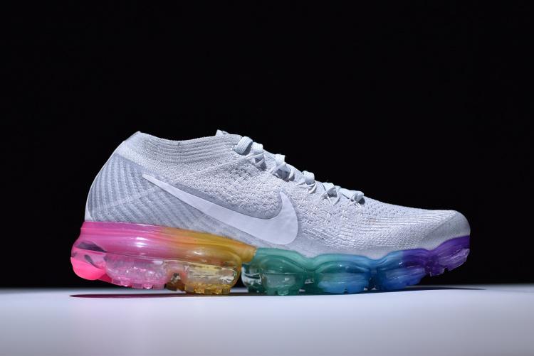 size 40 83f44 1ac37 Nike Wmns Air VaporMax Flyknit Pure Plat Wolf Grey Women's Men's Running  Shoes 849557-004