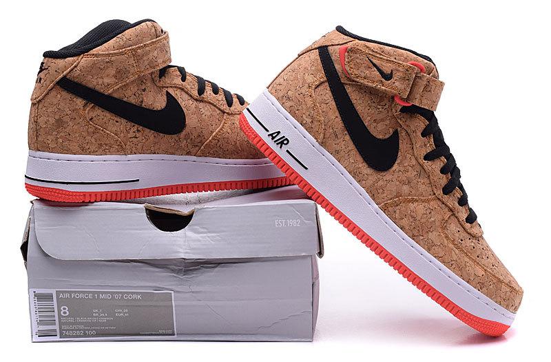 buy popular 12569 0581b Nike Air Force 1 Mid 07 Cork ...