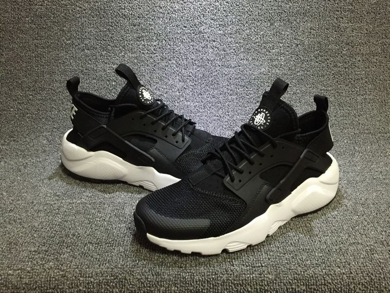 f27b6c97cd2b Nike Air Huarache Run Ultra Black White Men s Women s Casual Shoes ...