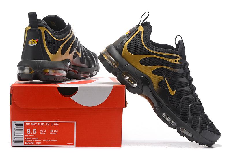 1c5644546fe1ac Nike Air Max Plus Tn Ultra Black Gold 526301 010 Men s Running Shoes ...