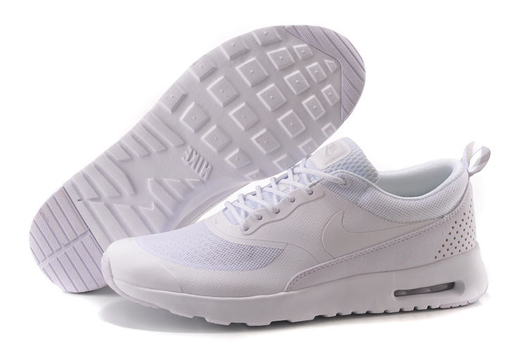 promo code 3aedf 63d1e Nike Air Max Thea Print Trainers Triple White 599409 001 Womens Mens  Running Shoes Sneakers