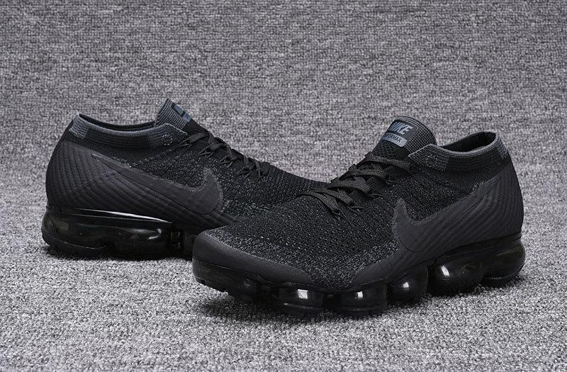 best loved 7c430 194fd Nike Air VaporMax Flyknit Triple Black Men's Running Shoes 849558-007