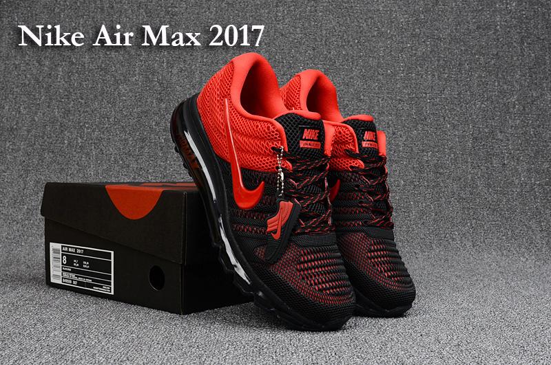 cheaper 7729e f5dfc Nike Air Max 2017 KPU Black Red Men's Running Shoes 849559-007A