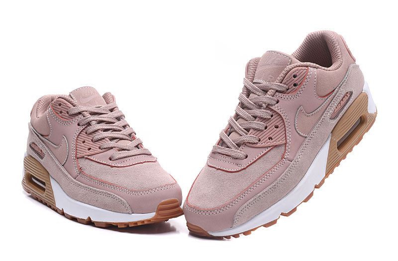 huge selection of bc623 ac5c1 Nike Air Max 90 SE Particle Pink Gum Light Brown White Women's Running  Shoes Sneakers 881105-601