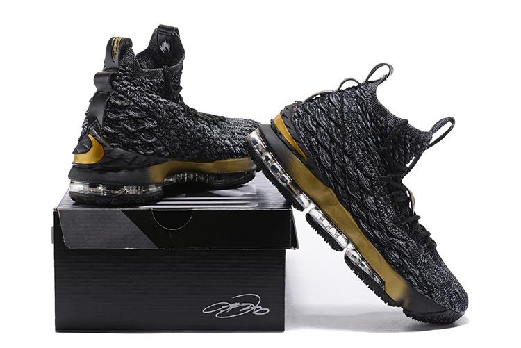 29226b1b4a8 Nike Lebron 15 XV Black Gold Men s Basketball Shoes NIKE-ST001713 ...