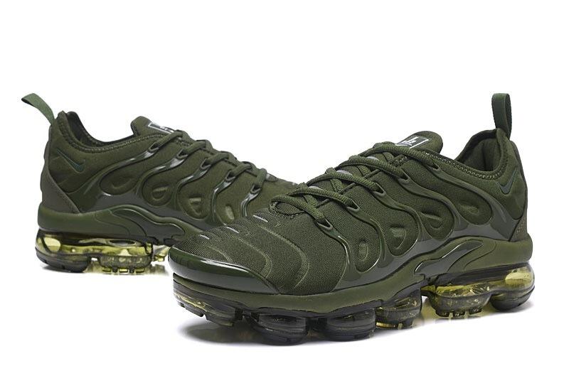 ed39d3cb57f6a Nike Air VaporMax Plus TN Olive Green Men s Running Shoes NIKE ...