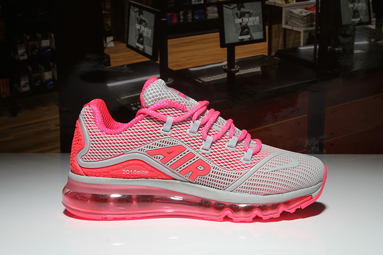 Nike Air Max 2018 Elite KPU Grey Salmon Pink Women s Running Shoes ... 2086d4317