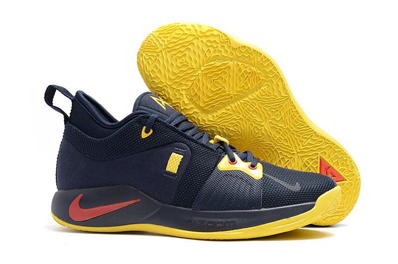 Nike Paul George PG2 Playstation Navy Blue Yellow Black Men s ... d914e258b