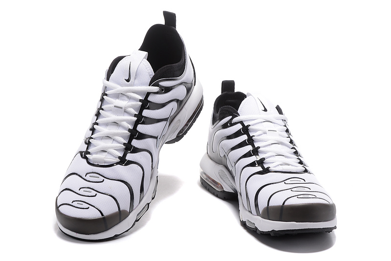 0038540edc Nike Air Max Plus TN Ultra Tuned Black White 898015 101 Men's Running Shoes