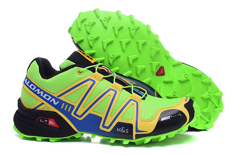 plus récent d080d e8355 Salomon Speedcross 3 CS Volt Yellow Black Mens Trail Running Shoes  NIKE-ST002085