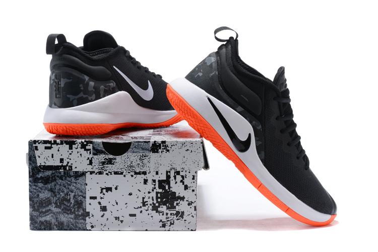ef9df89ccb2 Nike Lebron Witness II EP 2 Black White Orange Men s Basketball ...