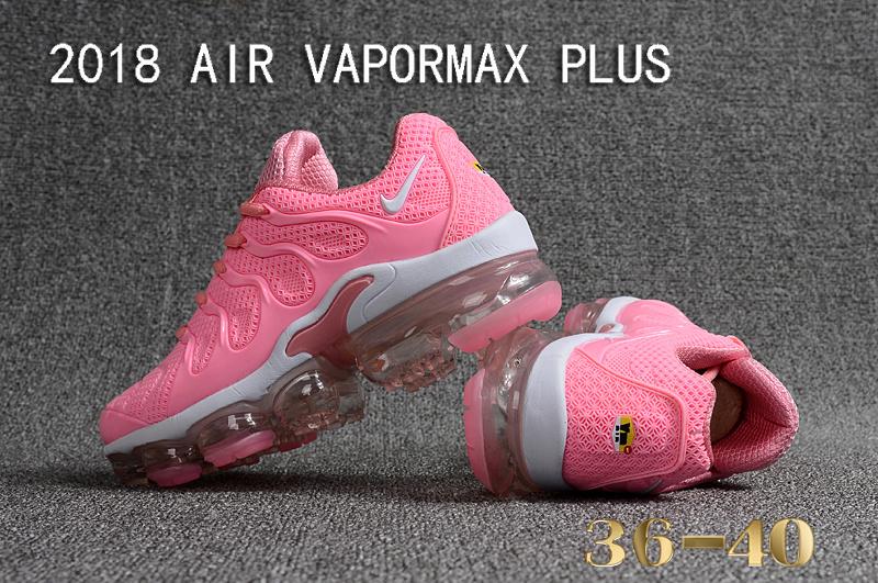 bd4e24d4c22e92 Nike Air Vapormax Plus KPU TN + 2018 Hyper Pink White Women s Running Shoes
