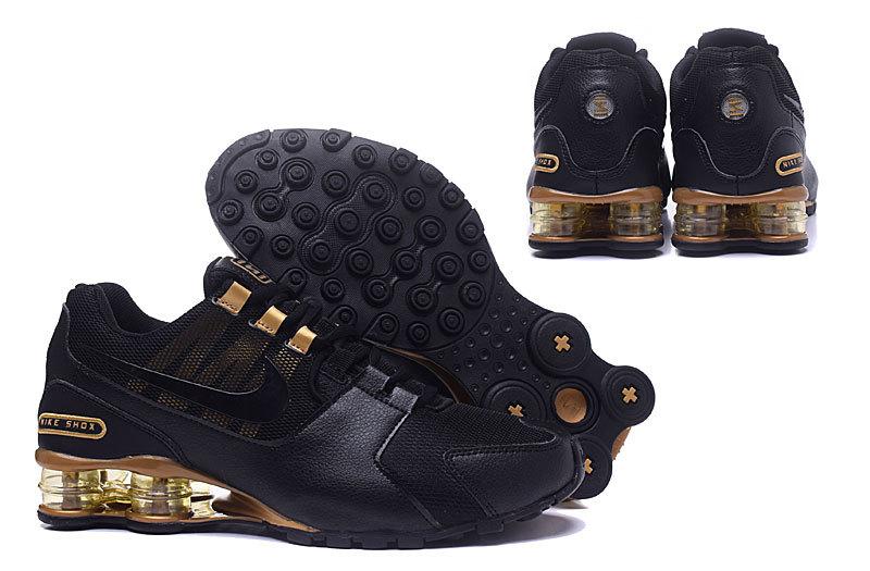 hot sales 7d71d effd9 Nike Shox Avenue NZ Black Gold Men s ...