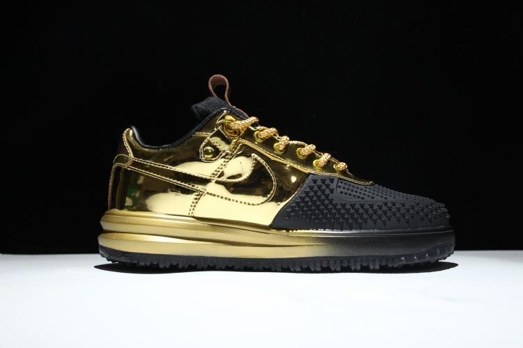 Men's Air Mens Nike Boot One Duckboot Force Swoosh Gold Black Kpu qdUdv
