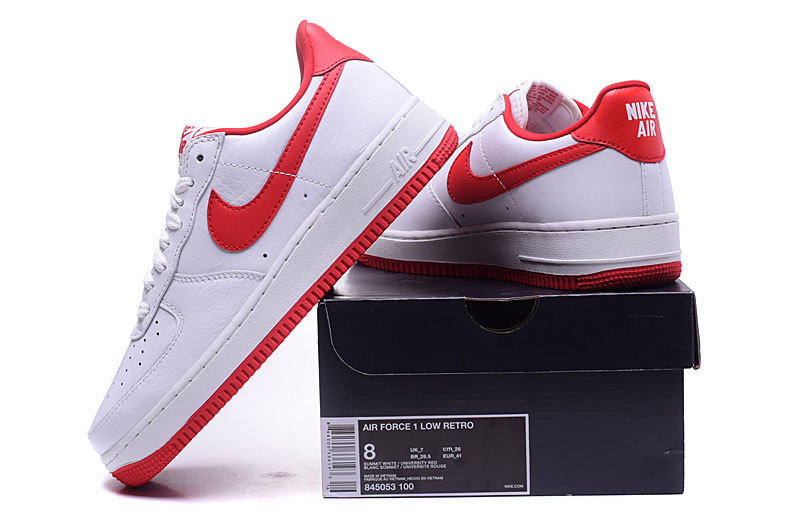 detailing ced6e 2cb15 Nike Air Force 1 Low QS OG Summit White University Red ...