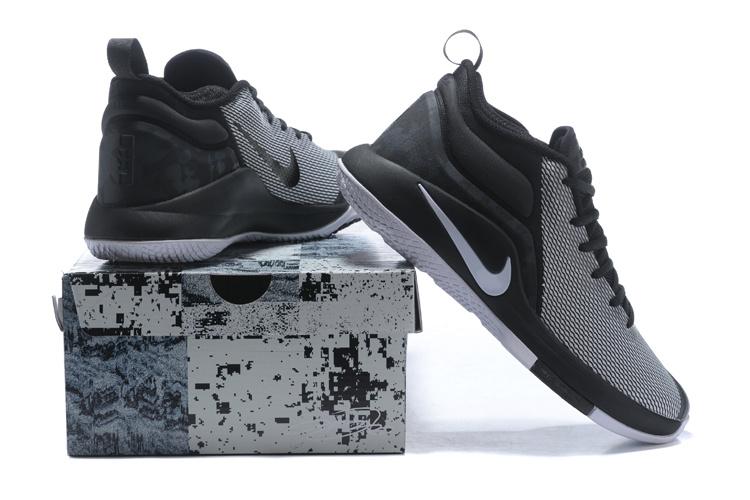 68c71c692892 Nike Lebron Witness II EP 2 Black White Wolf Grey Men s Basketball ...