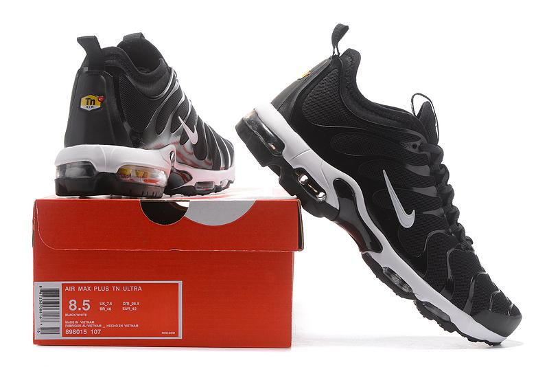 Nike Air Max Plus TN Ultra Black White 898015 107 Men's Running Shoes 898015 107
