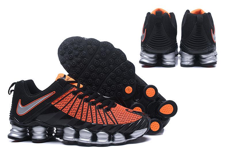 Nike Shox TLX KPU Orange Black Silver Men s Running Shoes NIKE ... 748d03371