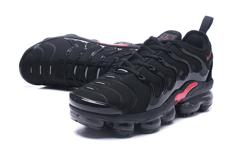 save off 9f42f b97b8 Nike Air VaporMax Plus TN Black Red Men's Running Shoes NIKE-ST000968