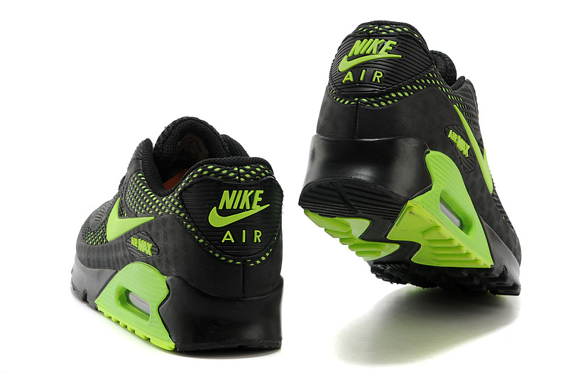 finest selection 61373 ad86a Nike Air Max 90 KPU Black Green Men s Running Shoes Sneakers