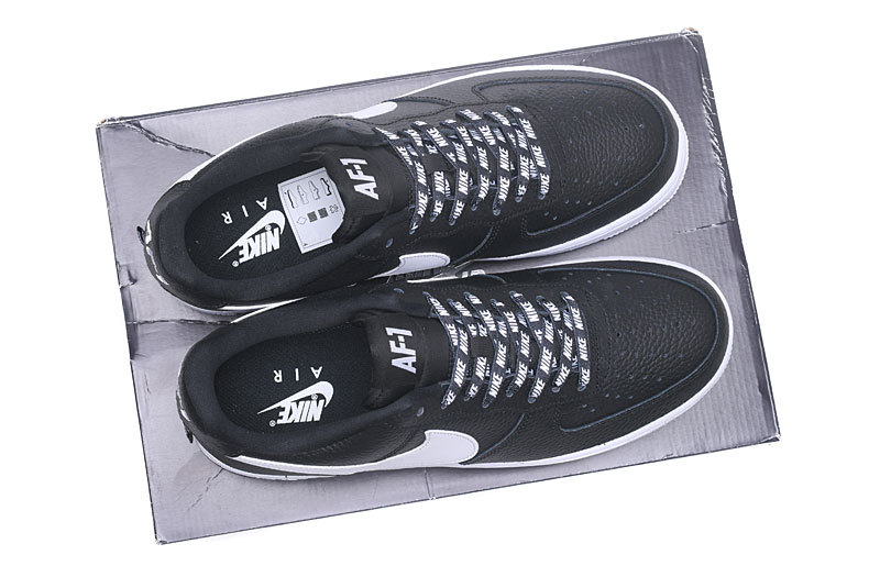 competitive price 7cb8c 0af6a Nike Air Force 1 07 Lv8 NBA Pack Black White Men s Women s Running Shoes  Sneakers
