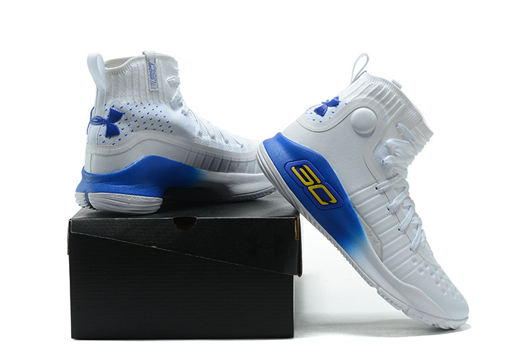 b23c655a25cc Under Armour Curry 4 White Blue Men s Basketball Shoes NIKE-ST001811 ...