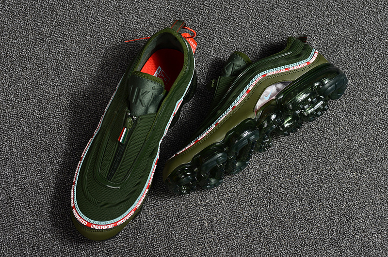 purchase cheap 53777 289eb Undefeated Nike Air Max 97 VaporMax 2018 KPU Green Black Red White Men's  Running Shoes NIKE-ST000713
