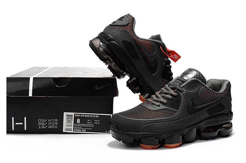 best loved 108f9 e3b33 Off White x Nike Air Max 90 KPU Anthracite Grey Orange 875695 906 Men's  Running Shoes Sneakers 875695-906