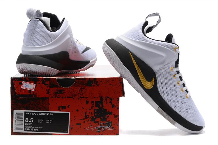pick up ffb0a 3e233 Nike Zoom Witness EP Lebron James White Black Wolf Grey Metallic Gold Men's  Basketball Shoes 852439-109