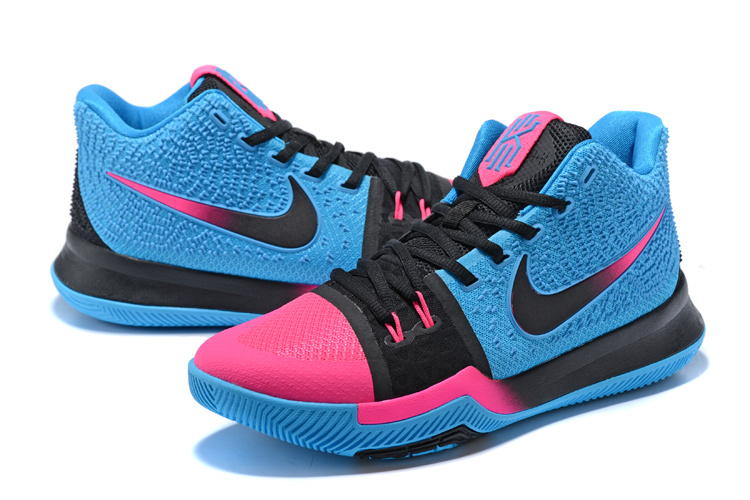 b9760c6a5e11 Nike Kyrie 3 III EP Irving Charitable Edition Blue Pink Black Men s  Basketball Shoes