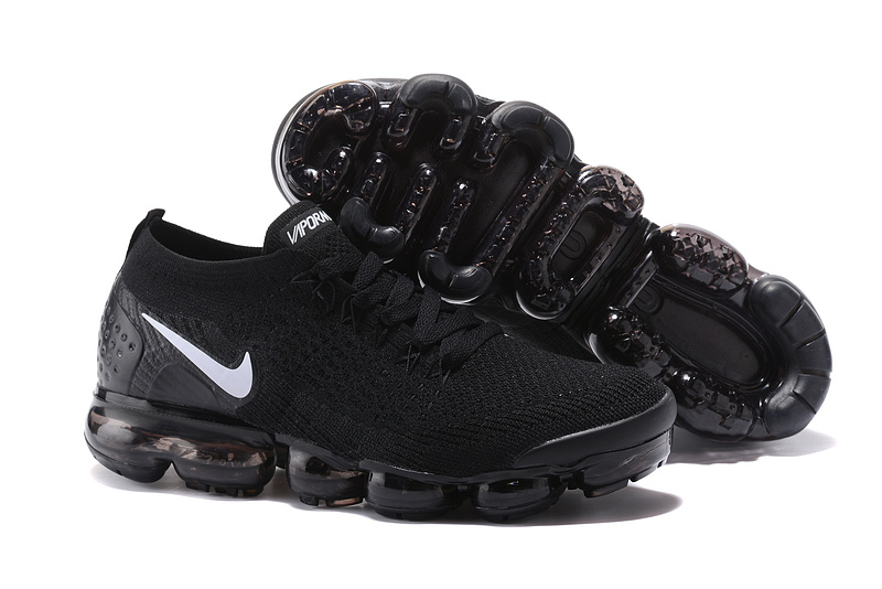 bas prix 151fa e2bf8 Nike Air VaporMax Flyknit 2 TPU Black White Women's Men's Running Shoes  NIKE-ST000575