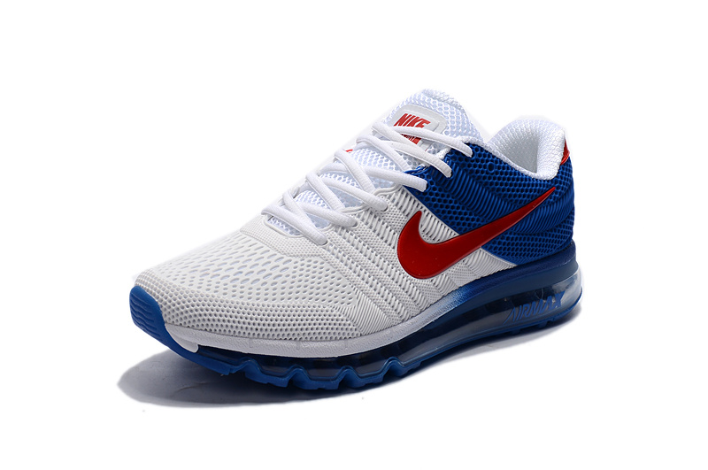 innovative design dd9da 79253 Nike Air Max 2017 Kpu White Blue Red Men's Running Shoes 849560-315