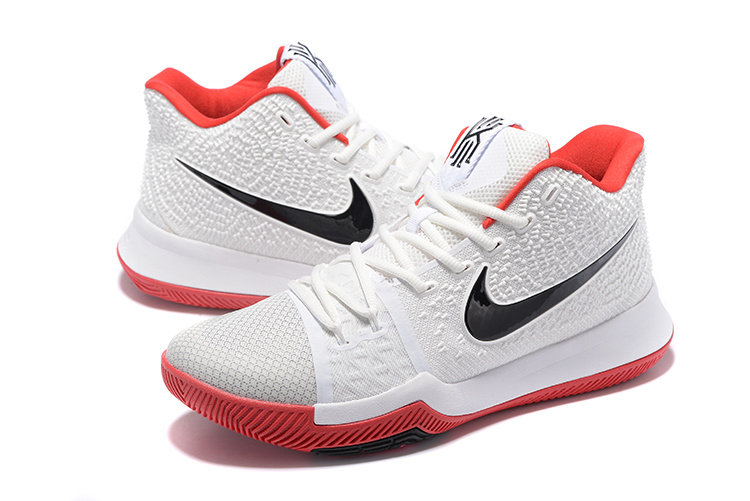 best loved 6c8ab 7c862 Nike Kyrie 3 III EP Irving Whtie Red Black Men's Basketball Shoes  NIKE-ST001535