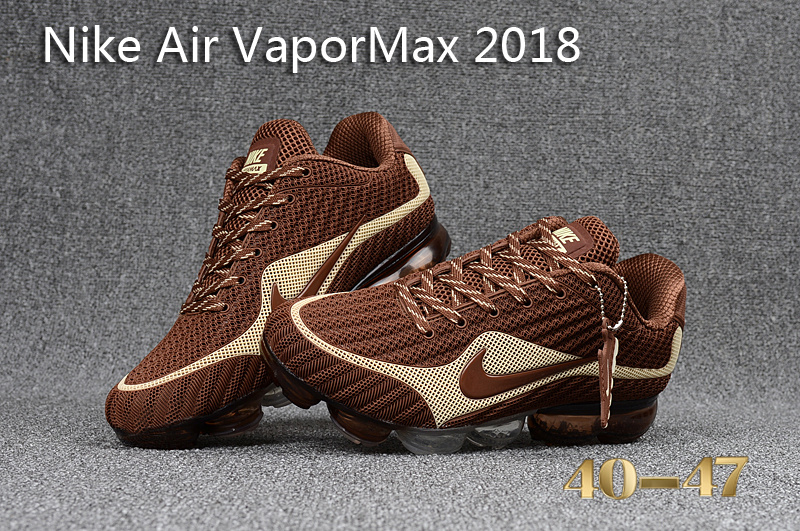new product d970f 8d5a6 Nike Air VaporMax 2018 KPU Beige Brown Men's Running Shoes 849556-006
