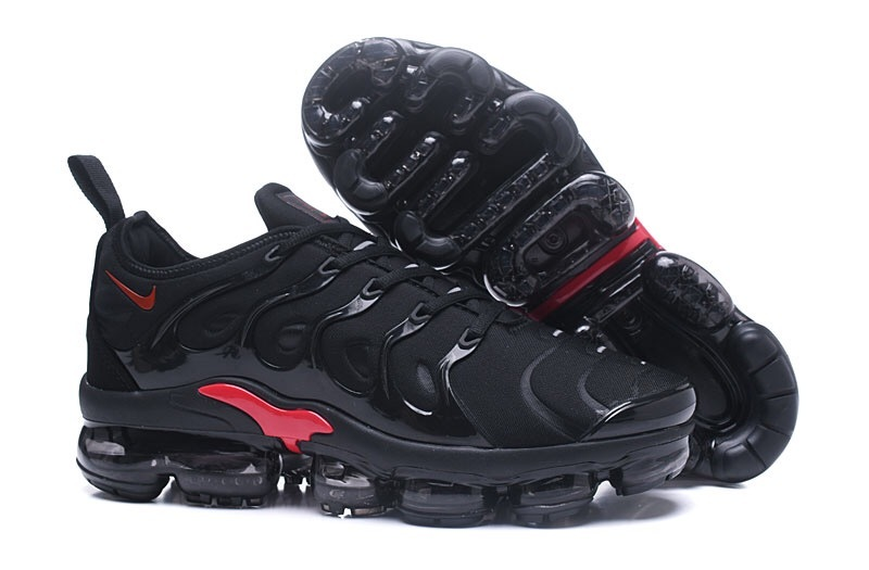 9dc6bc368a0de Nike Air VaporMax Plus TN Black Red Men's Running Shoes NIKE ...